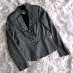 White House Black Market Gray Blazer